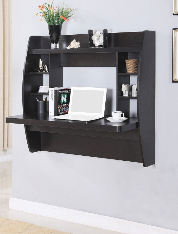 801429 Wall Desk - Cappuccino