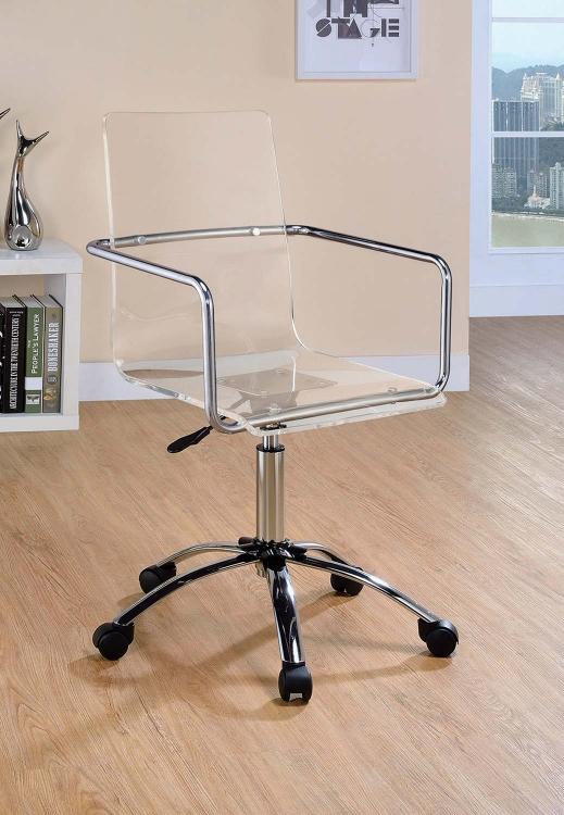 Amaturo Office Chair - Clear/Chrome
