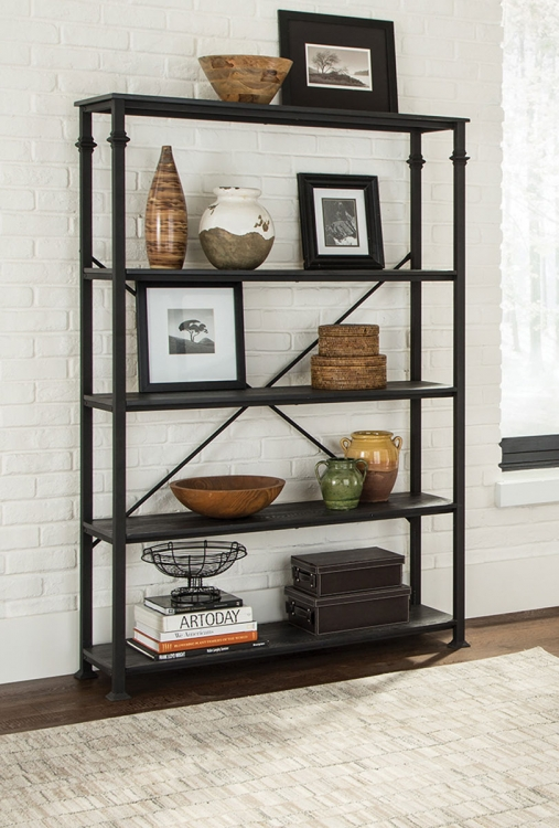 801439 Single Bookcase - Dark Grey