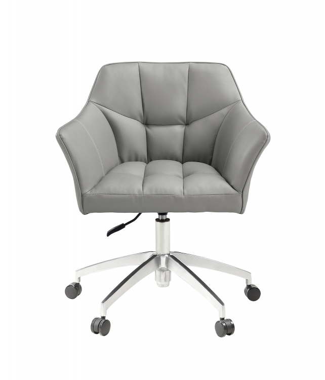 801538 Office Chair - Grey/Aluminum