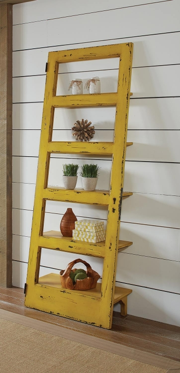 801649 Tall Cabinet - Rustic Yellow