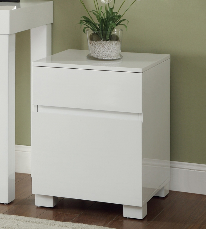 801738 Cabinet - Glossy White
