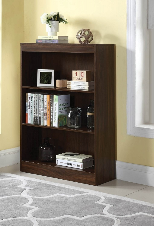 801806 Bookcase - Dark Walnut
