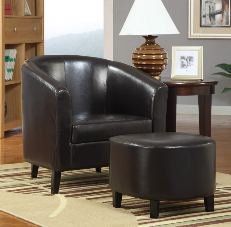 900240 Accent Chair And Ottoman - Coaster