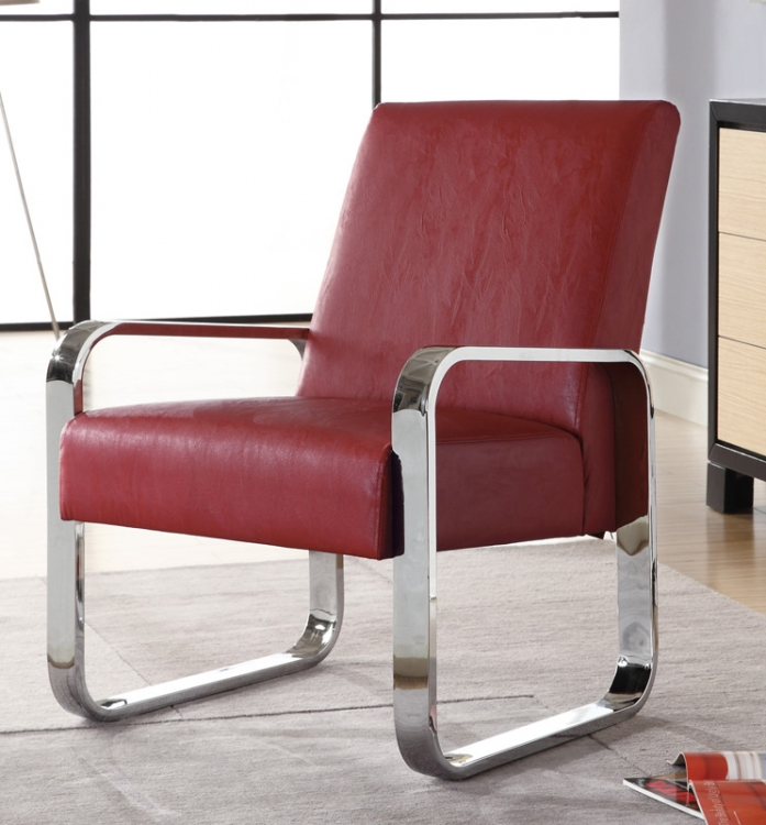 90031X Leisure Chair - Red - Coaster