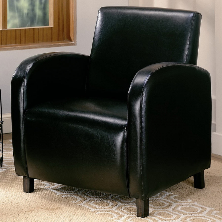 900334 Vinyl Chair - Brown - Coaster