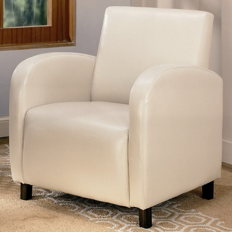 900336 Vinyl Chair - Cream - Coaster