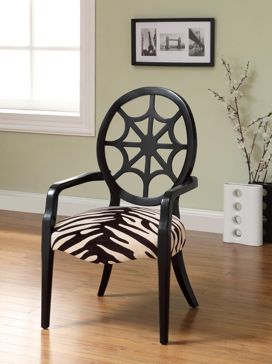 900525 Accent Chair - Off White - Black