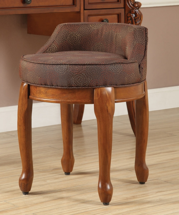 900640 Vanity Stool - Brown
