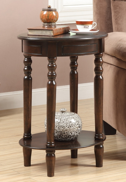900856 Accent Table - Brown Red