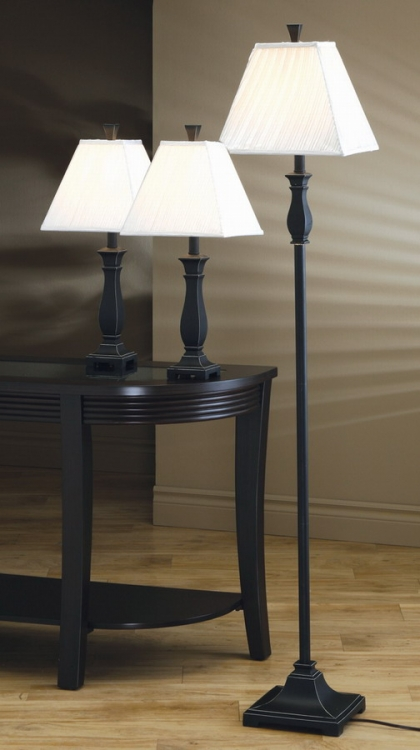 901145 3pc Table and Floor Lamp Set - Coaster
