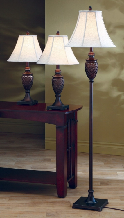 901146 3pc Table and Floor Lamp Set - Coaster