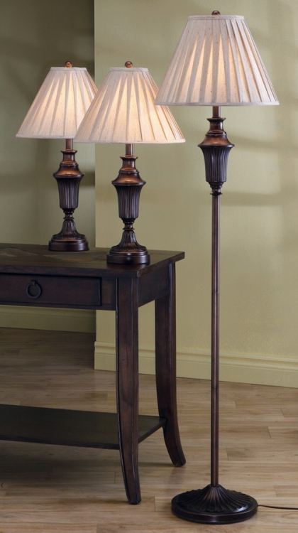 901147 3pc Table and Floor Lamp Set - Coaster