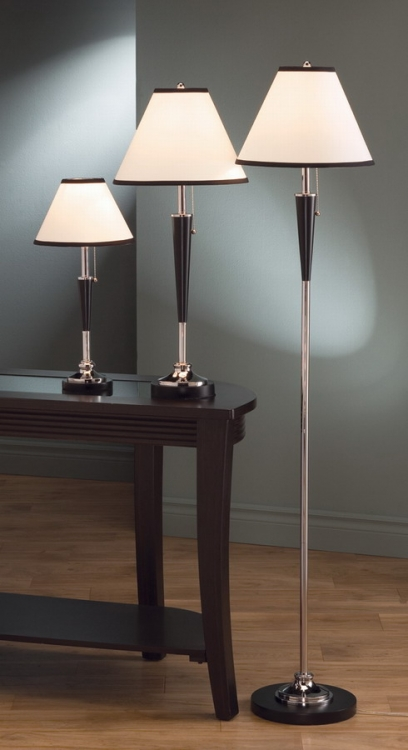 901148 3pc Table and Floor Lamp Set - Coaster