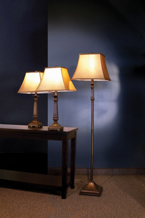 901160 3pc Table and Floor Lamp Set - Coaster