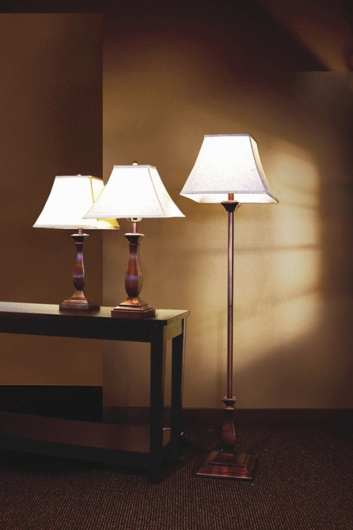 901161 3pc Table and Floor Lamp Set - Coaster