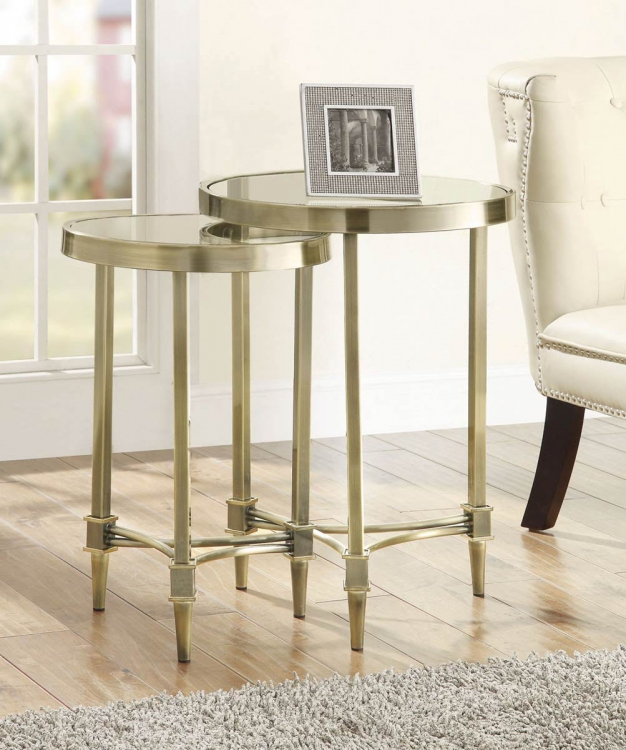 901280 2 PC. Nesting Table Set - Bronze