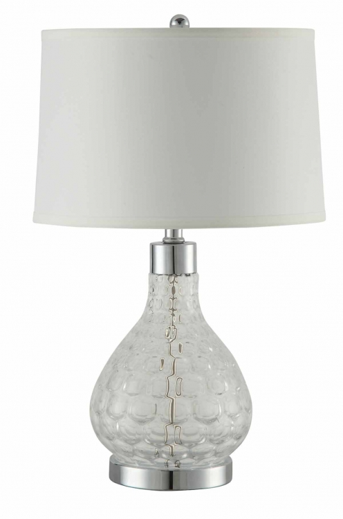 901547 Table Lamp - Clear/Chrome