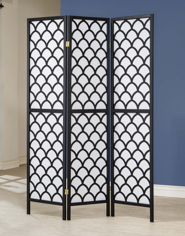 901910 Folding Screen - Black/White