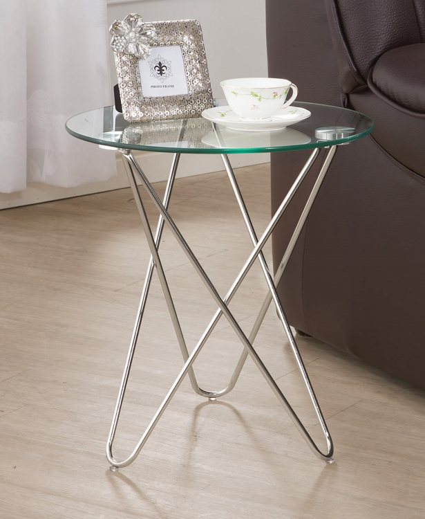 901914 Accent Table - Metal Glass