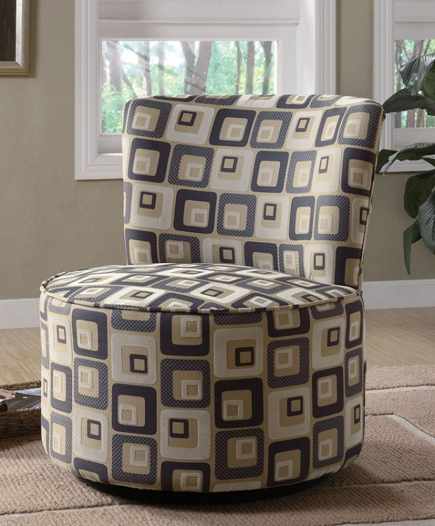 90200X Swivel Accent Chair - Retro Square - Coaster