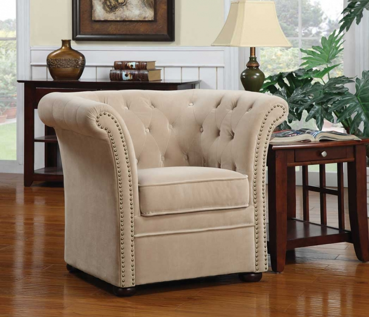 90203X Accent Chair - Beige - Coaster