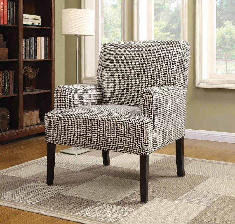 902083 Accent Chair - White/Brown