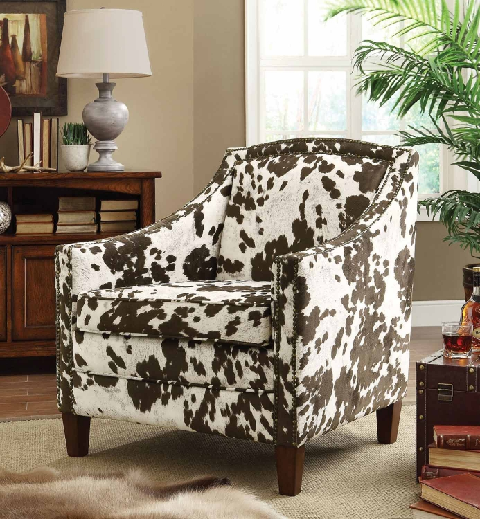 902134 Accent Chair - Brown/White Cow Pattern