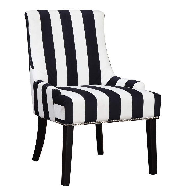 902188 Accent Chair - Navy/White
