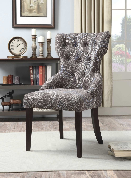 902402 Accent Chair - Charcoal Grey, Grey, Blue