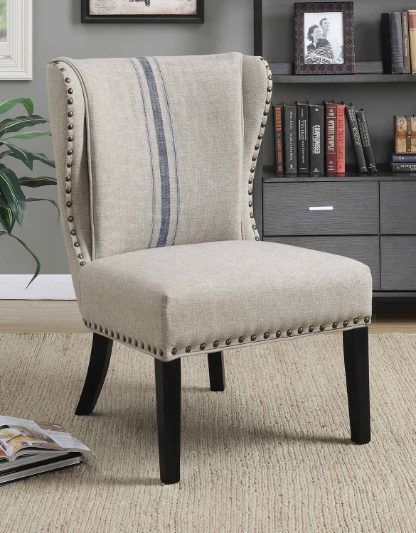 902496 Accent Chair - Grey/Blue