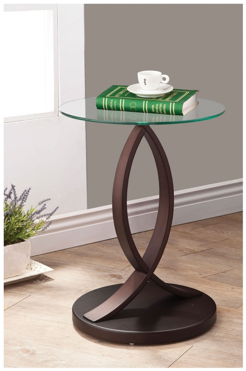 902816 Accent Table - Cappuccino