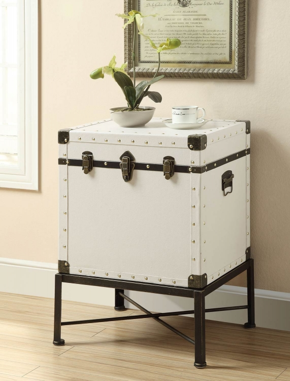 902819 Side Cabinet - White/Black