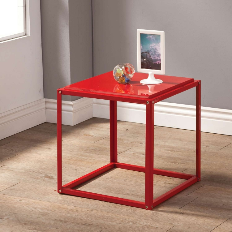 902847 Accent Table - Red