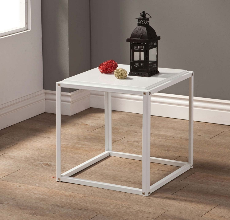 902848 Accent Table - White