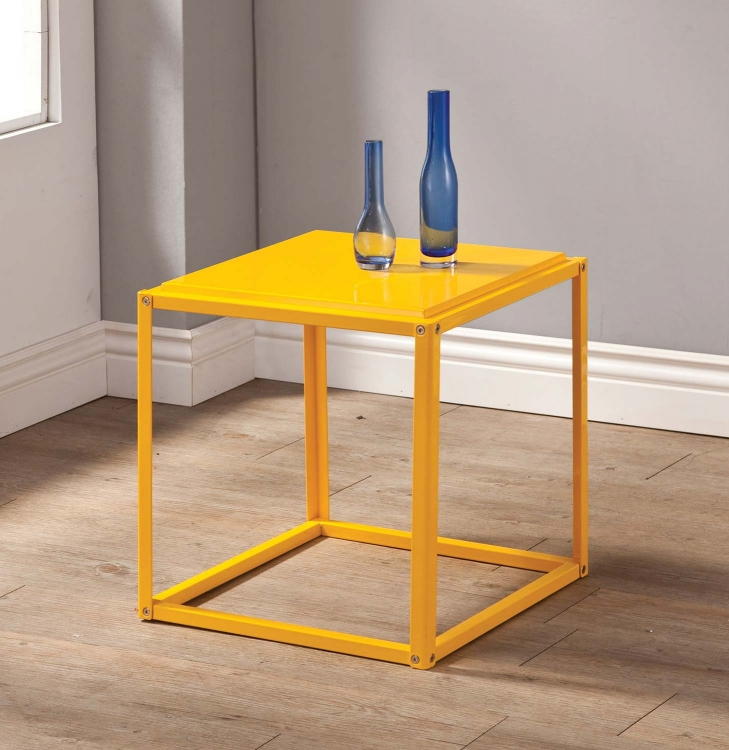 902849 Accent Table - Yellow