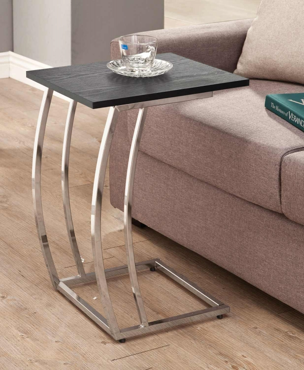 903307 Accent Table - Black/Chrome
