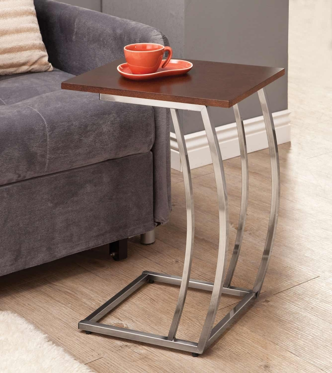 903308 Accent Table - Cherry/Chrome