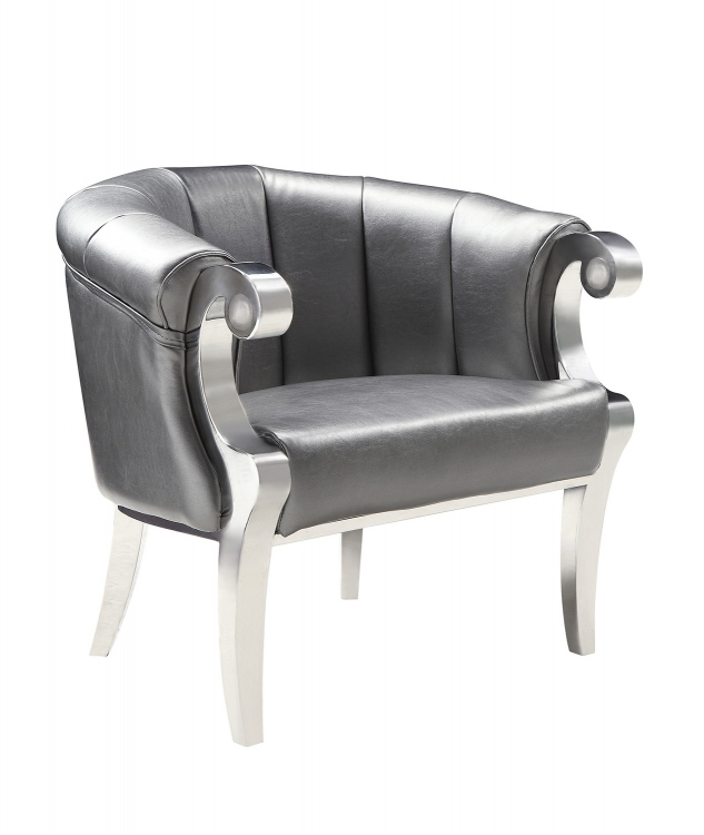 903384 Accent Chair - Grey/Chrome