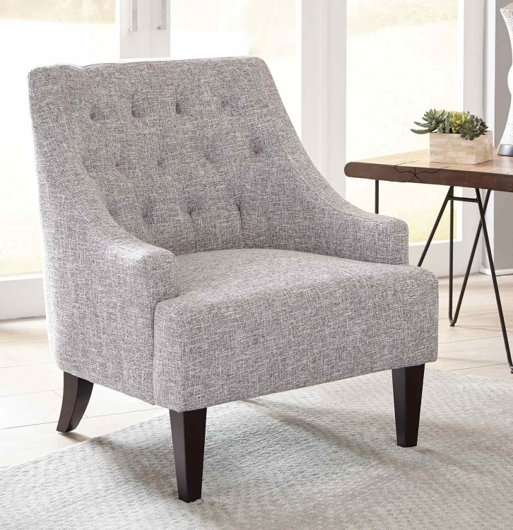 904068 Accent Chair - Grey/Dark Brown