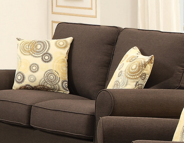 Noella Accent Pillow - Chocolate