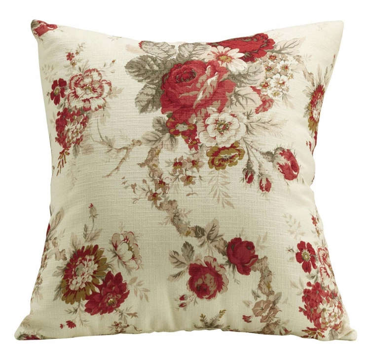 905066 Accent Pillow - Rose Floral