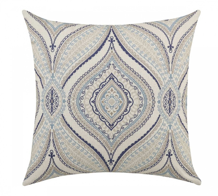 905073 Accent Pillow - Off White, Blue, Grey