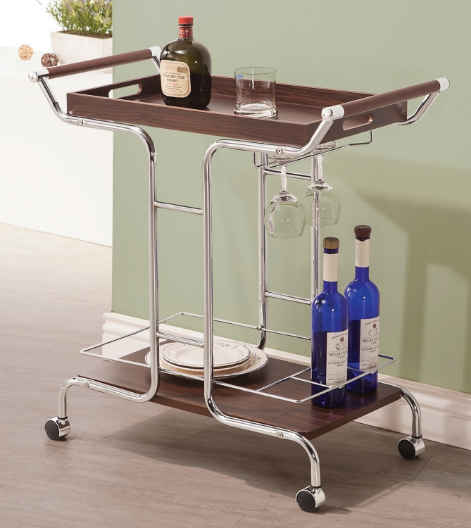 910065 Serving Cart - Chrome