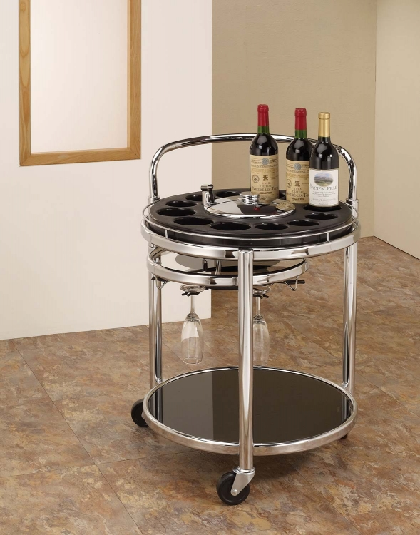 910071 Wine Rack - Chrome/Black