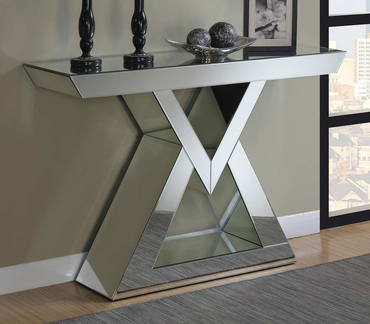 930009 Console Table - Clear Mirror