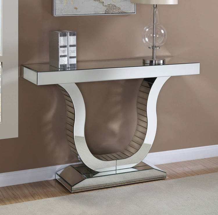 930010 Console Table - Clear Mirror