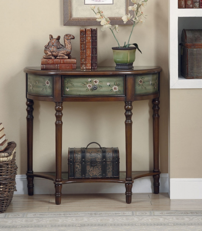 950034 Console Table - Antique Green