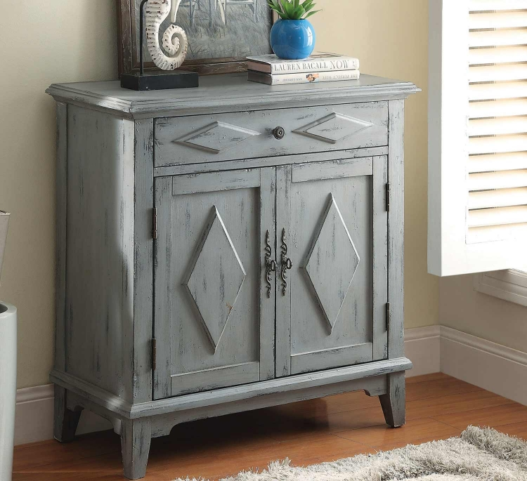 950099 Accent Cabinet - Weathered Blue