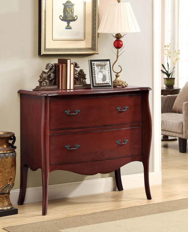 950249 Accent Cabinet - Antique Red